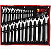 Набор рожково накидных ключей 25 шт, Onex OX-2221 набор комбинированных ключей 6-32 мм, набор рожковых ключей, фото 2