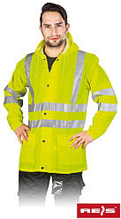 Куртка водостойкая сигнальная рабочая REIS Польша KPDPUFLUO Y