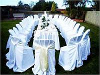 Белоснежные чехлы на стулья, скатерти, салфетки, фуршетные юбки напрокат