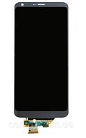 Дисплей (экран) для LG H870 G6, H871, H87, H873, LS993, US997, VS998 + тачскрин, серый, Platinum, оригинал