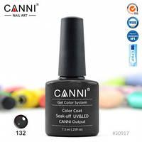 Гель-лак CANNI № 132 (темный антрацитовый), фото 1