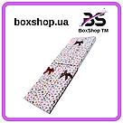 Подарочная коробочка под браслет или цепочку Бабочки 20,5*4,5*2,2 см, фото 2