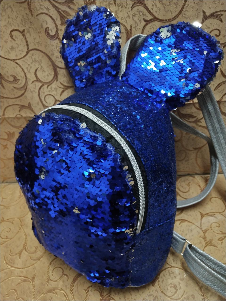 Жіночий рюкзак мєдвє мистецтв шкіра з блискітками і паєтками якість міський стильний (тільки ОПТ)