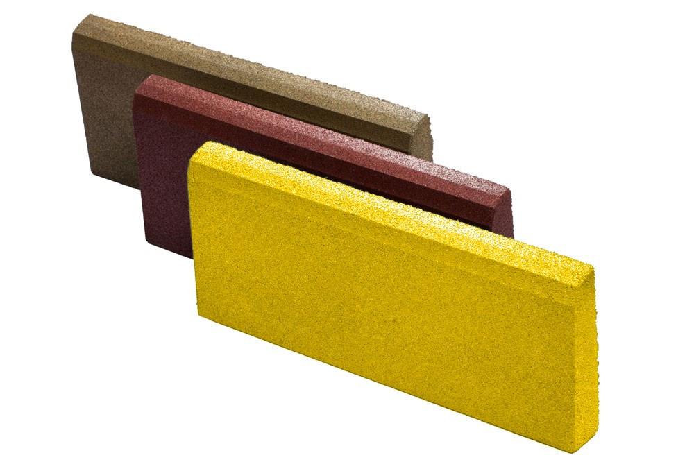 Резиновый бордюр 500/300/70ярко-желтый