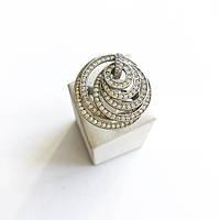 Кольцо из серебра с куб. цирконами Beauty Jewels в стиле De Grisogono (размер 18), фото 1