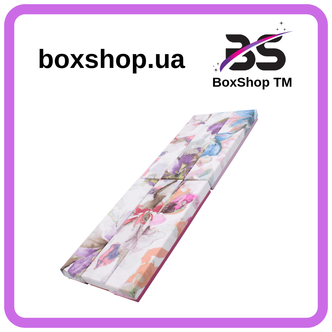Подарочная коробочка под браслет или цепочку Орхидея 20,2*4,5*2,2 см
