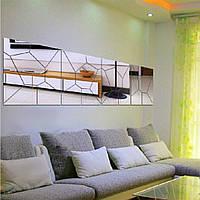 Шкафы кровати. Настенное панно зеркальное 2000*1000мм (панно, модель R5)