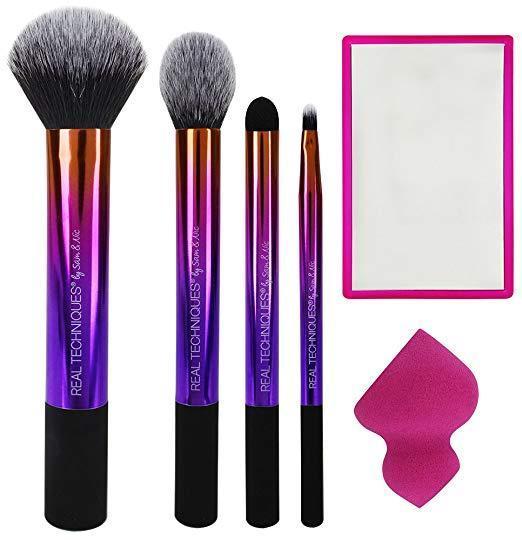 Лимитированный набор кистей для макияжа Real Techniques Drape + Color