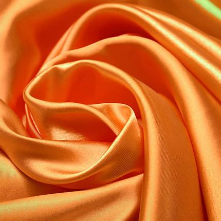 Ткань атлас ярко-оранжевый, фото 2