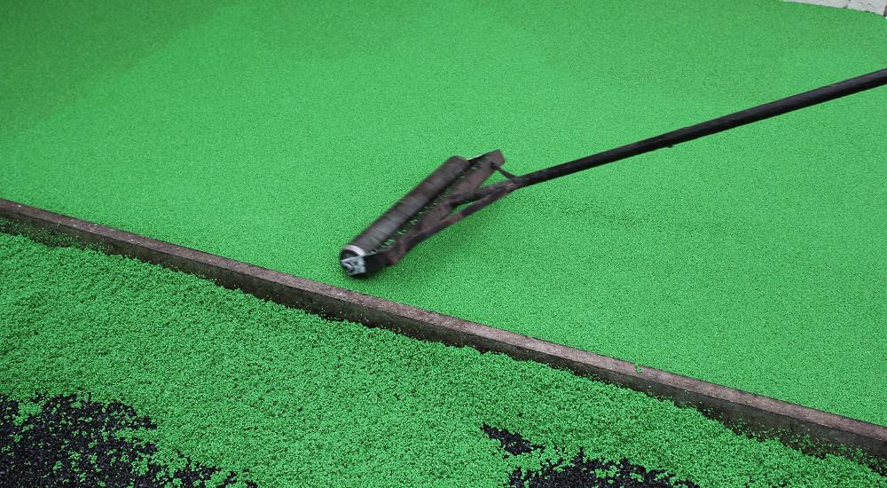Укладка бесшовного резинового покрытия 10 мм