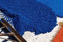 Укладка бесшовного резинового покрытия 15 мм