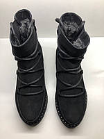 Зимние женские ботинки из натурального нубука