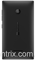 Задняя крышка для Microsoft (Nokia) 435 Lumia Dual Sim, 532 (RM-1069), черная