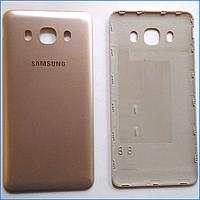 Задняя крышка для Samsung J710F Galaxy J7 (2016), золотистая, оригинал