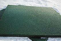 Резиновая плитка 500х500х20 зеленая