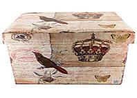 Банкетка пуфик в стиле Шебби Шик с ящиком