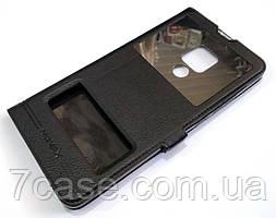 Чехол книжка с окошками momax для Huawei Mate 20 X черный