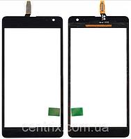 Тачскрин (сенсор) для Microsoft 535 Lumia Dual Sim (RM-1090) (CT2S1973FPC-A1-E), черный