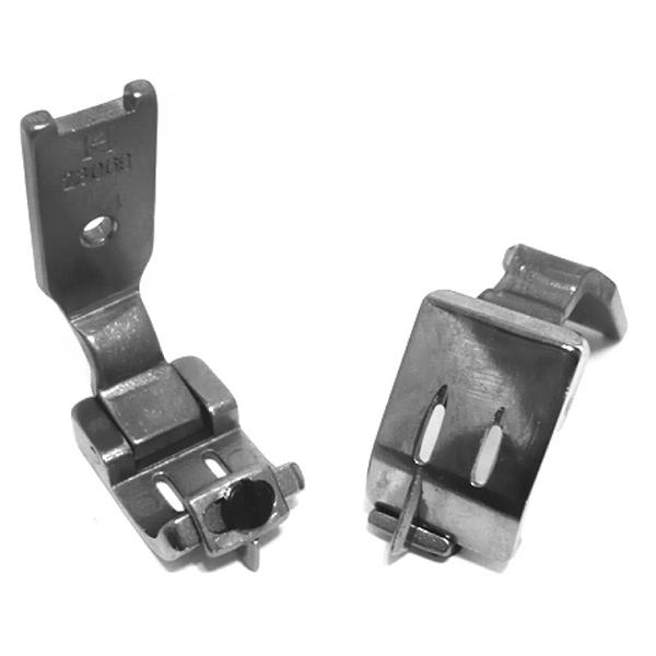 Khsew 23069, отделочная лапка для двухигольных швейных машин, со съемной направляющей для растачивания швов