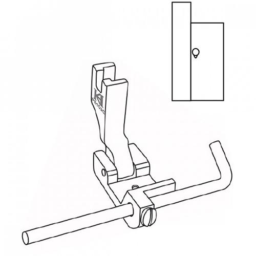 Khsew SP8103G, универсальная лапка с регулируемой правой линейкой, для отстрочки сверху изделия