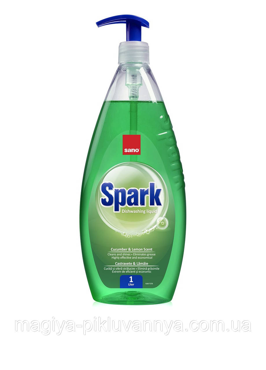 Средство для мытья посуды SANO Spark Огурец Лайм 1л, арт.350531