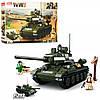 Конструктор SLUBAN M38-B0689  военный, танк, фигурки, 686дет, в кор-ке,52-33-7см