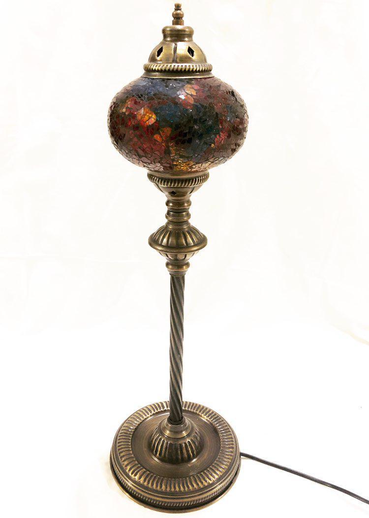 Высокий турецкий светильник из мозаики ручной работы малиновый