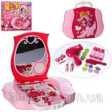 Детское трюмо-чемодан с проектором и слайдами для девочек 008-809