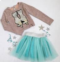 Комплект нарядный юбка+кофта, Ричи, размер 128 и 152