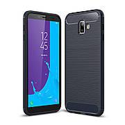 Чехол TPU на Samsung Galaxy J6 Plus 2018 Синий