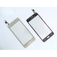 Тачскрин (сенсор) для Samsung G530H Galaxy Grand Prime /G530F, золотистый, #BT541. оригинал
