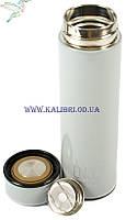 Термос з ситечком 500 мл 6-465 сірий, фото 3