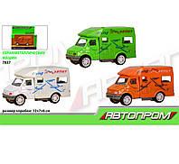 Машина металл 7837 (96шт/2) АВТОПРОМ 3 цвета, в коробке 12*7*6см