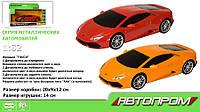 Машина метал-пластик 7605 (48шт/2) АВТОПРОМ 1:32 Lamborghini Huracan LP610-4,свет,звук,в кор.