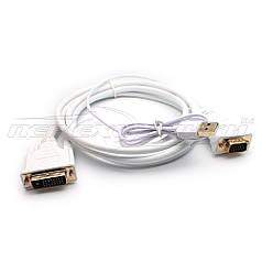 Конвертер DVI-D (24+1) to VGA + доп. питание USB, кабель 1.8 м