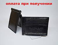 Чоловічий шкіряний гаманець портмоне візитниця затиск для грошей Ковбой, фото 1