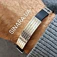 Мужской серебряный браслет с каучуком Отче Наш - Браслет с молитвой серебро 875 - Стильный мужской браслет, фото 2