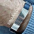 Мужской серебряный браслет с каучуком Отче Наш - Браслет с молитвой серебро 875 - Стильный мужской браслет, фото 3