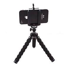 Мягкий гибкий штатив трипод, держатель для iphone, смартфона, камеры, фотоаппарата черный