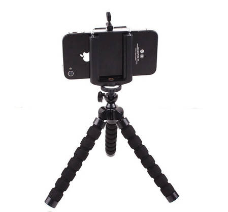 Мягкий гибкий штатив трипод, держатель для iphone, смартфона, камеры, фотоаппарата черный, фото 2