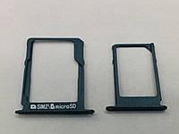 Лоток для Sim-карты для Samsung A300H/A500H/A700H, черный, комплект 2 шт.