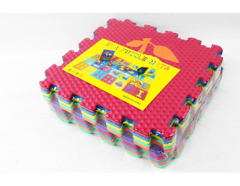 Детский коврик-пазл Eva puzzle mats 10 пластин, 31,5х10х31,5см (А2320)