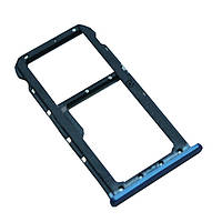 Лоток для Sim-карты и карты памяти для Huawei Mate 10 Lite (RNE-L01/RNE-L21), синий