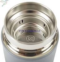 Термос с ситечком 500 мл 6-755 серый, фото 2