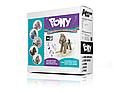 Плюшевая лошадка качалка бежевая с звуковыми эффектами и кармашком под игрушку Milly Mally фиолетовая., фото 2