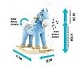 Плюшевая лошадка качалка бежевая с звуковыми эффектами и кармашком под игрушку Milly Mally фиолетовая., фото 4