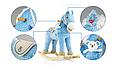 Плюшевая лошадка качалка бежевая с звуковыми эффектами и кармашком под игрушку Milly Mally фиолетовая., фото 5