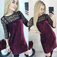 Платье бархат плиссированный   , фото 1