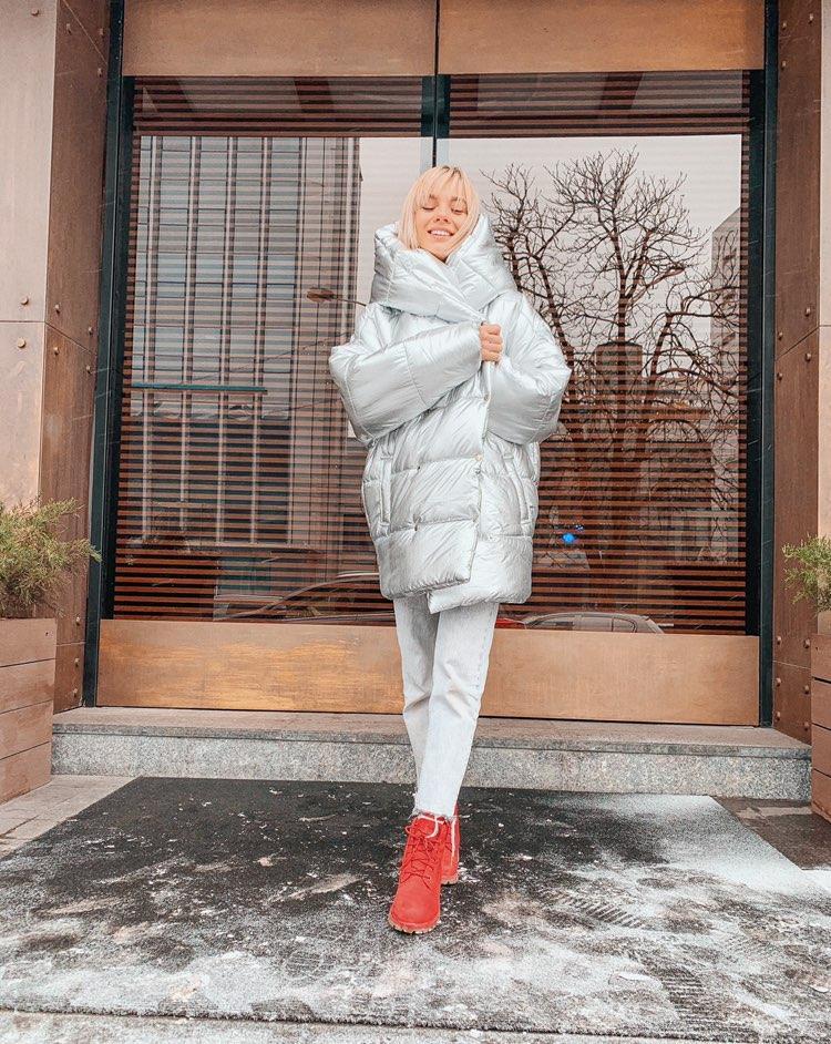 Зимняя куртка oversize S/M L/XL