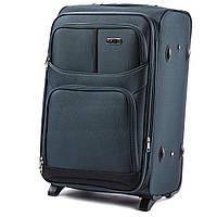 Малый тканевый чемодан Wings 206 на 2 колесах зеленый